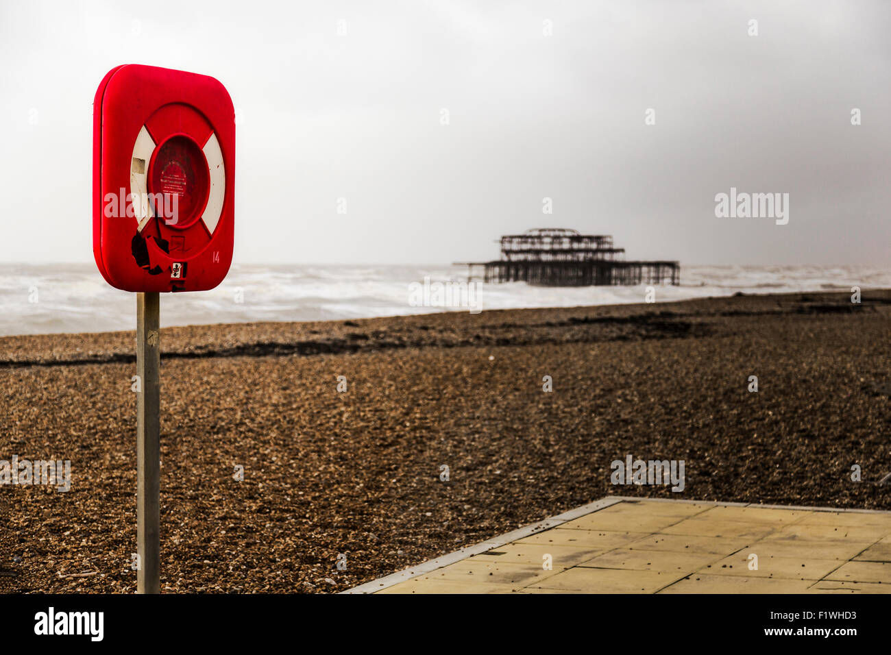 Brighton seaside. - Stock Image