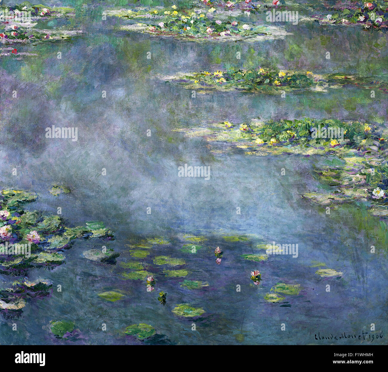 Claude Monet - Nymphéas 11 - Stock Image