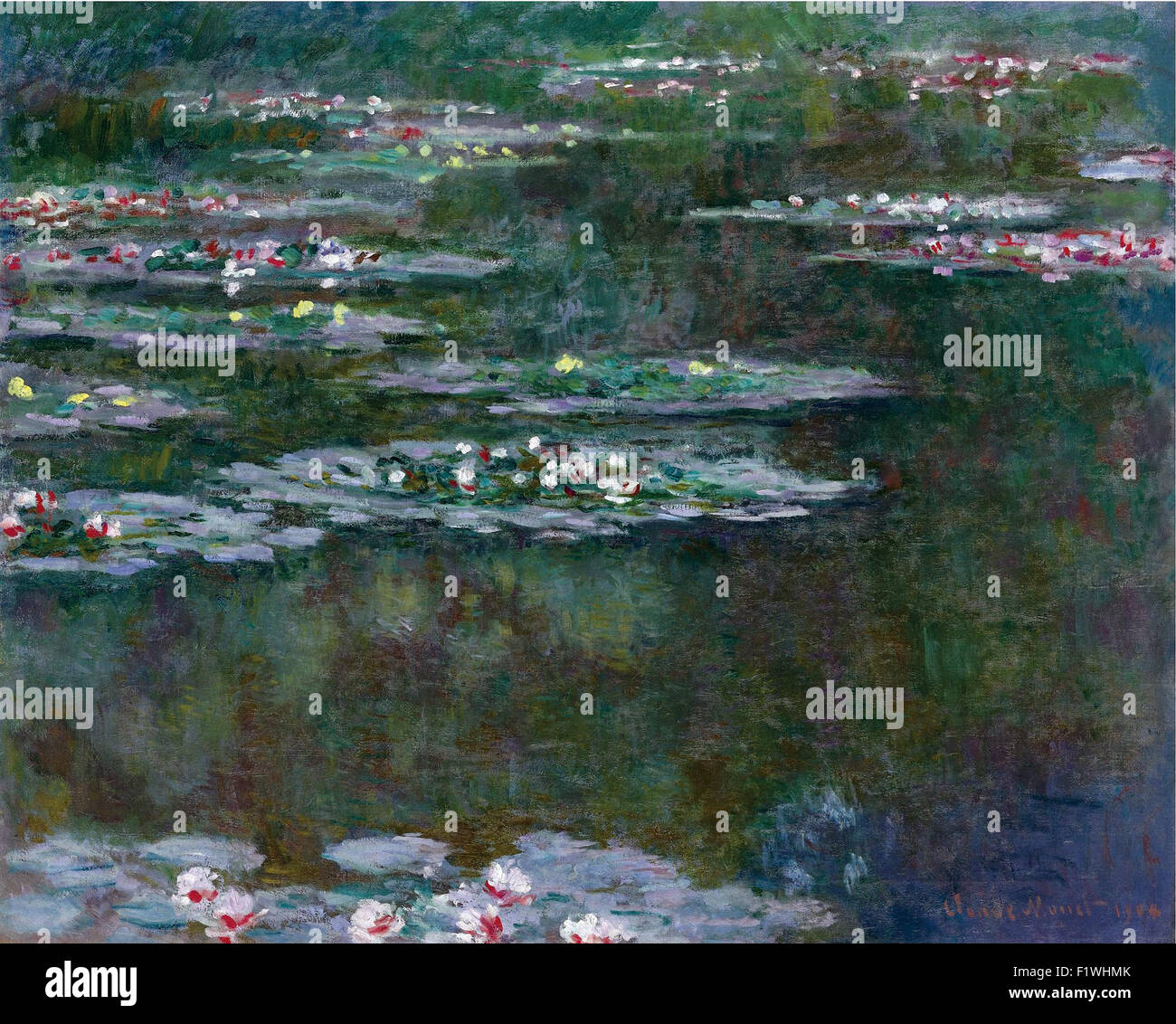 Claude Monet - Nymphéas 12 - Stock Image