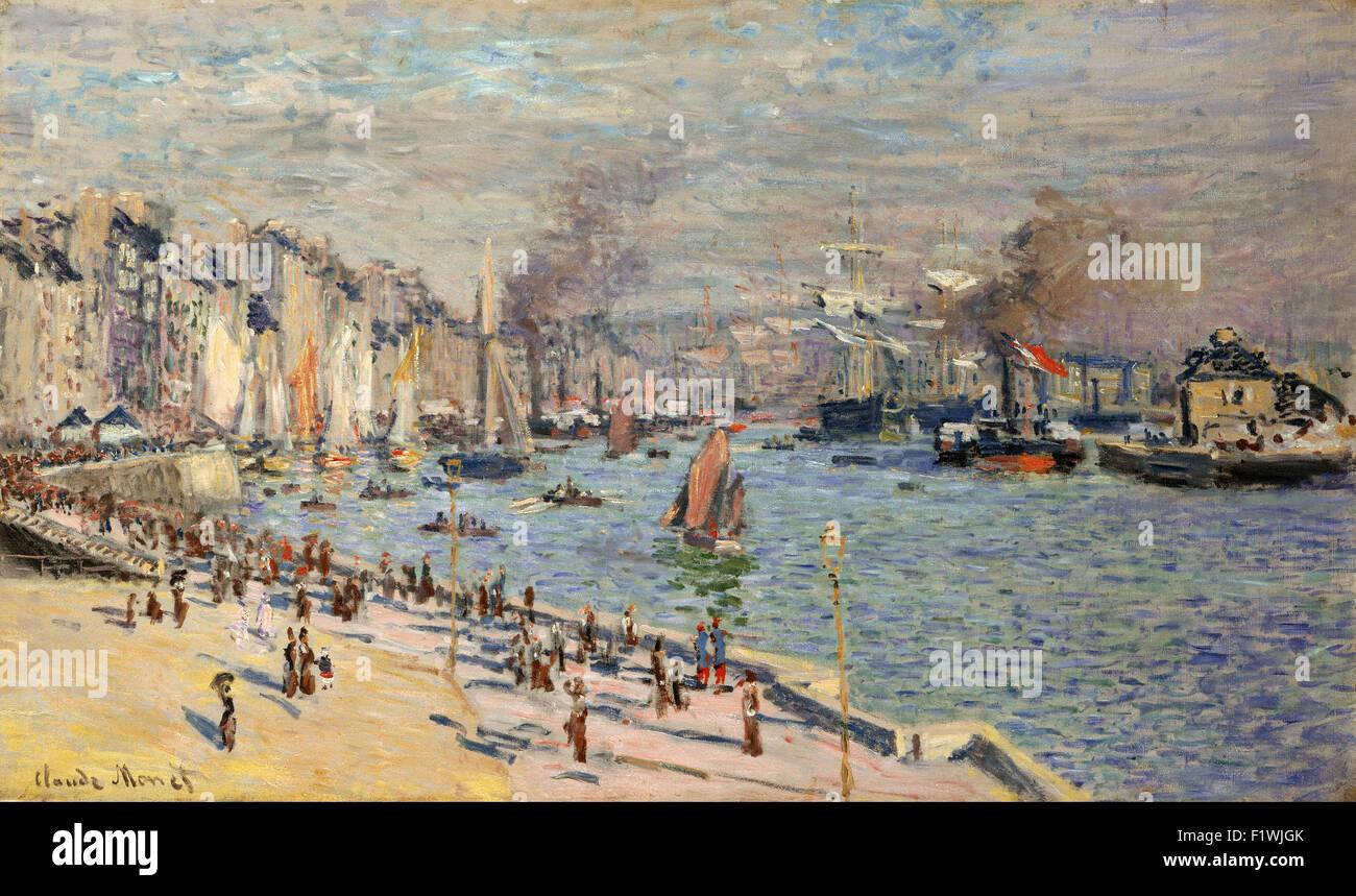 Claude Monet - Port of Le Havre 13 - Stock Image