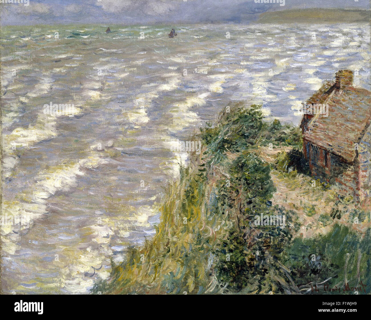 Claude Monet - Rising Tide at Pourville 15 - Stock Image