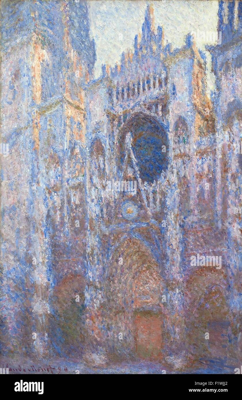 Claude Monet - Rouen Cathedral, West Façade - Stock Image