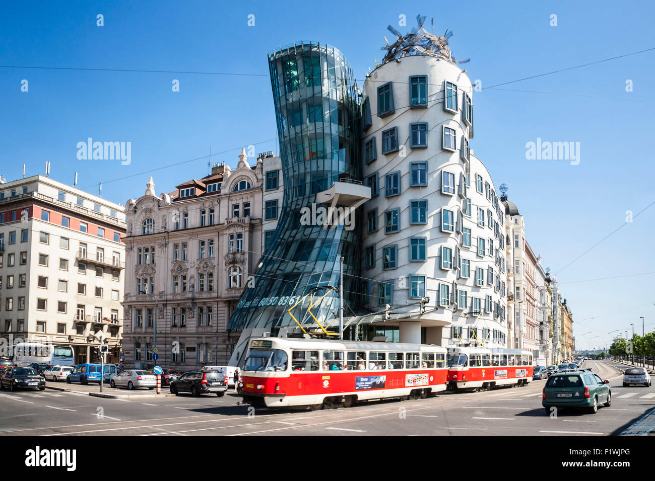 The Dancing House designed by Frank Gehry, Prague, Czech Republic. - Stock Image