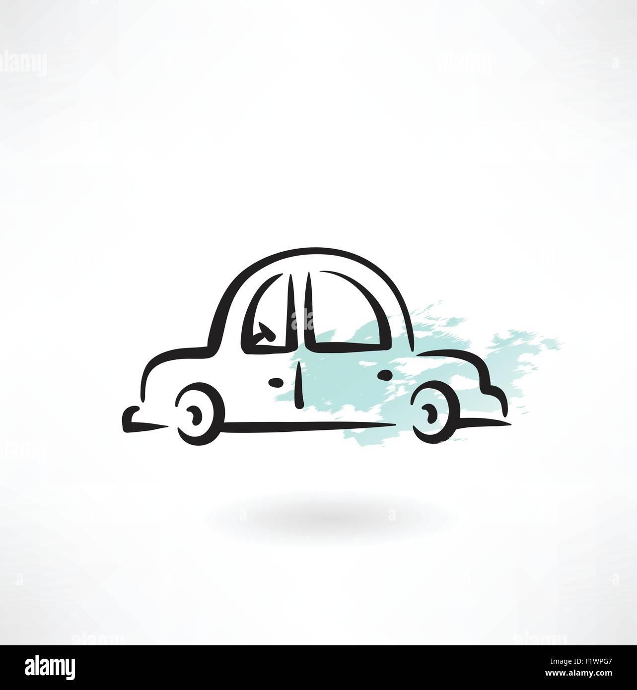 car grunge icon - Stock Vector