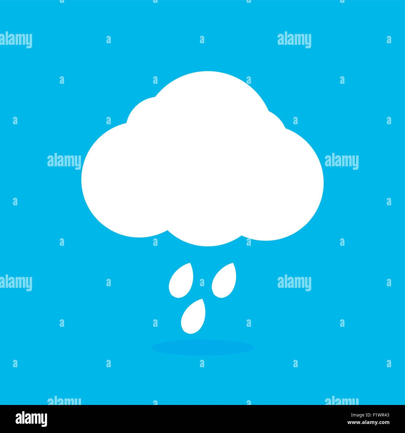 cloud icon - Stock Image