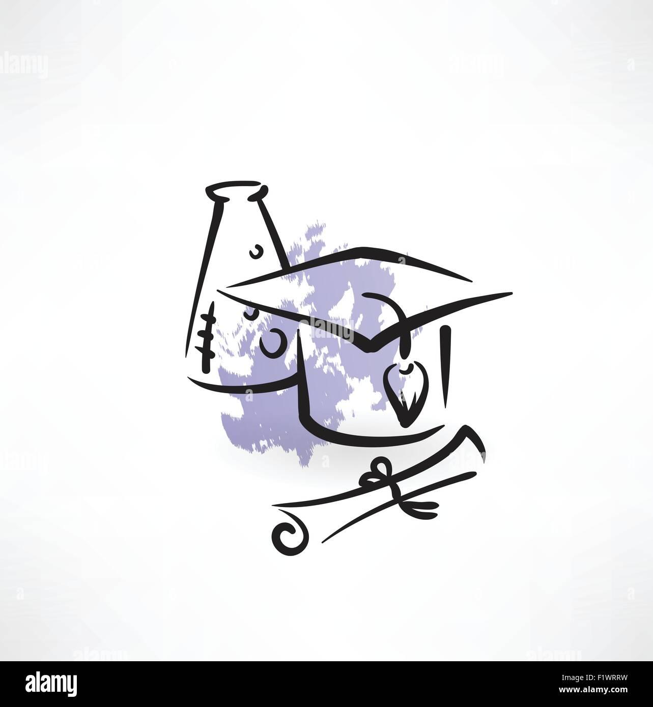 Professor of Chemistry grunge icon - Stock Vector