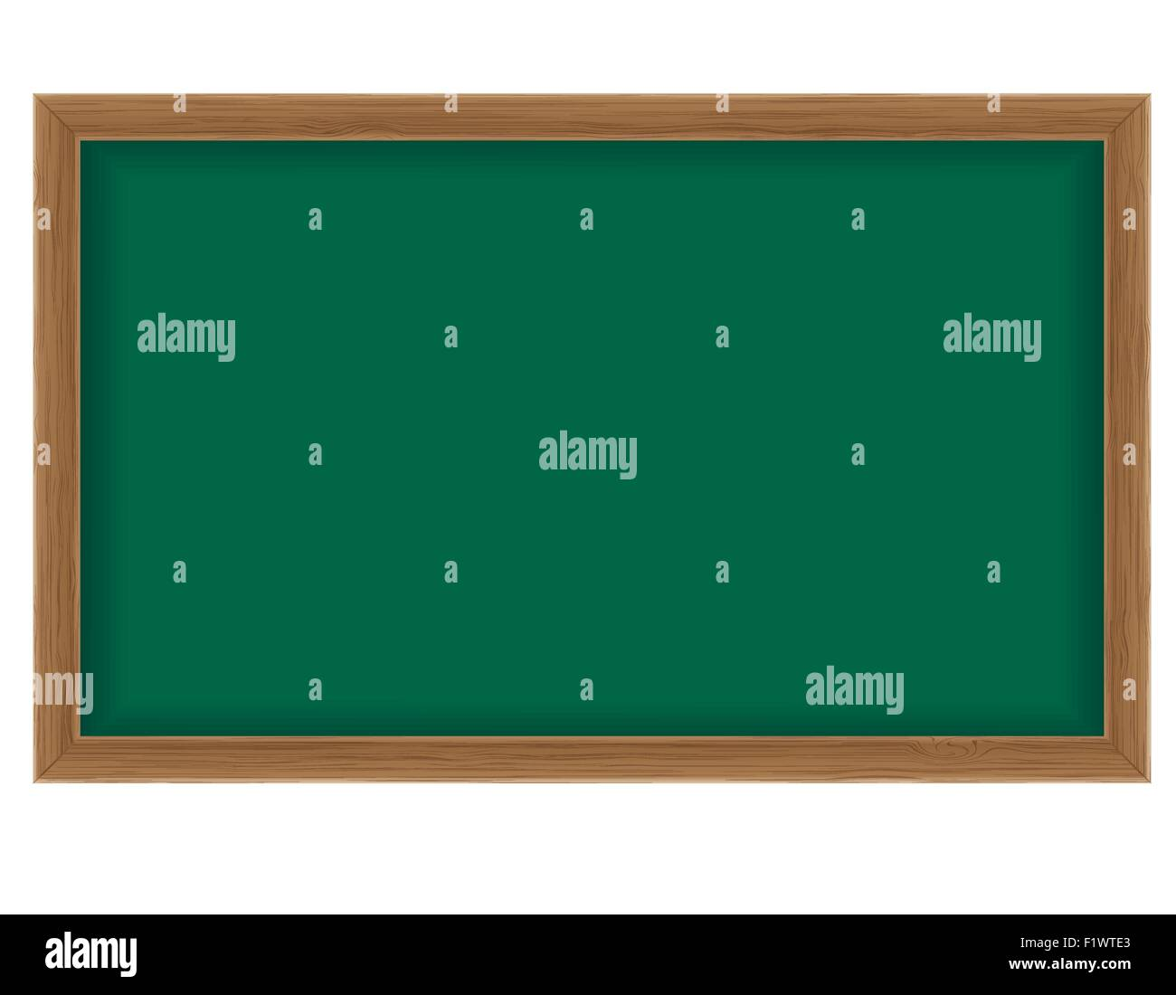 Wooden School Board For Writing Chalk Vector Illustration Isolated - Pool table chalk board