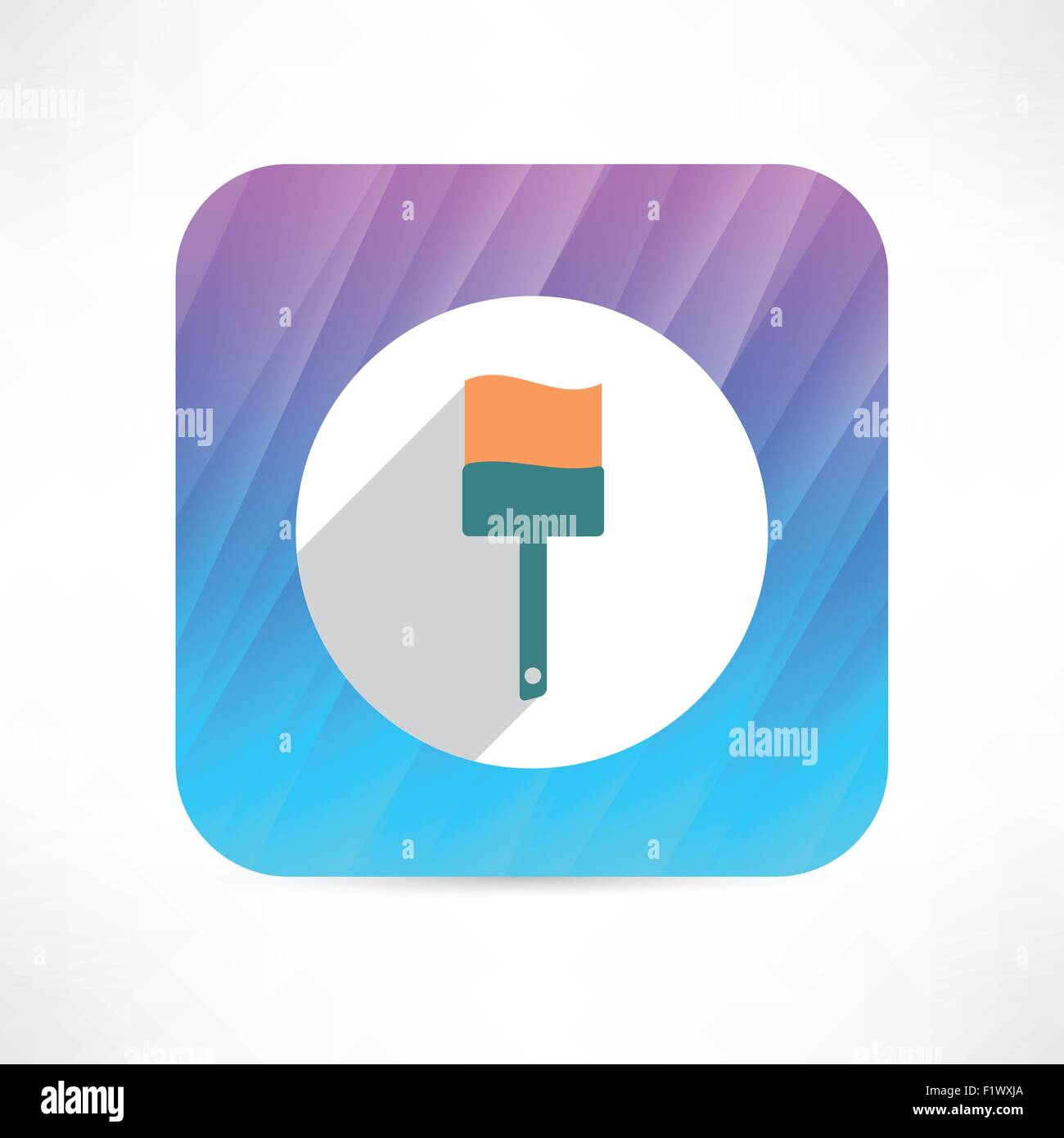 paint brush icon - Stock Vector
