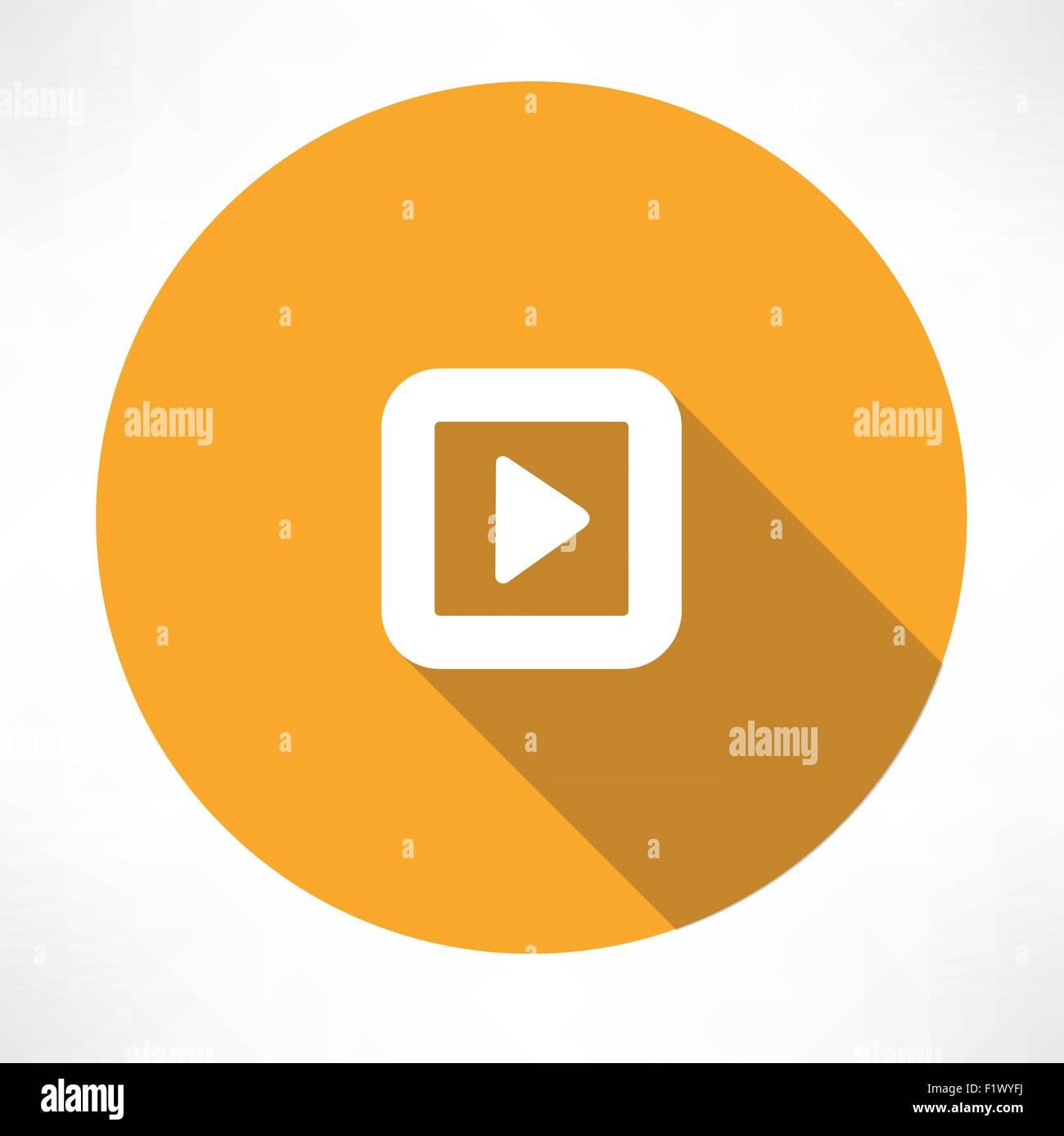 Play icon. Flat modern style vector illustration - Stock Vector