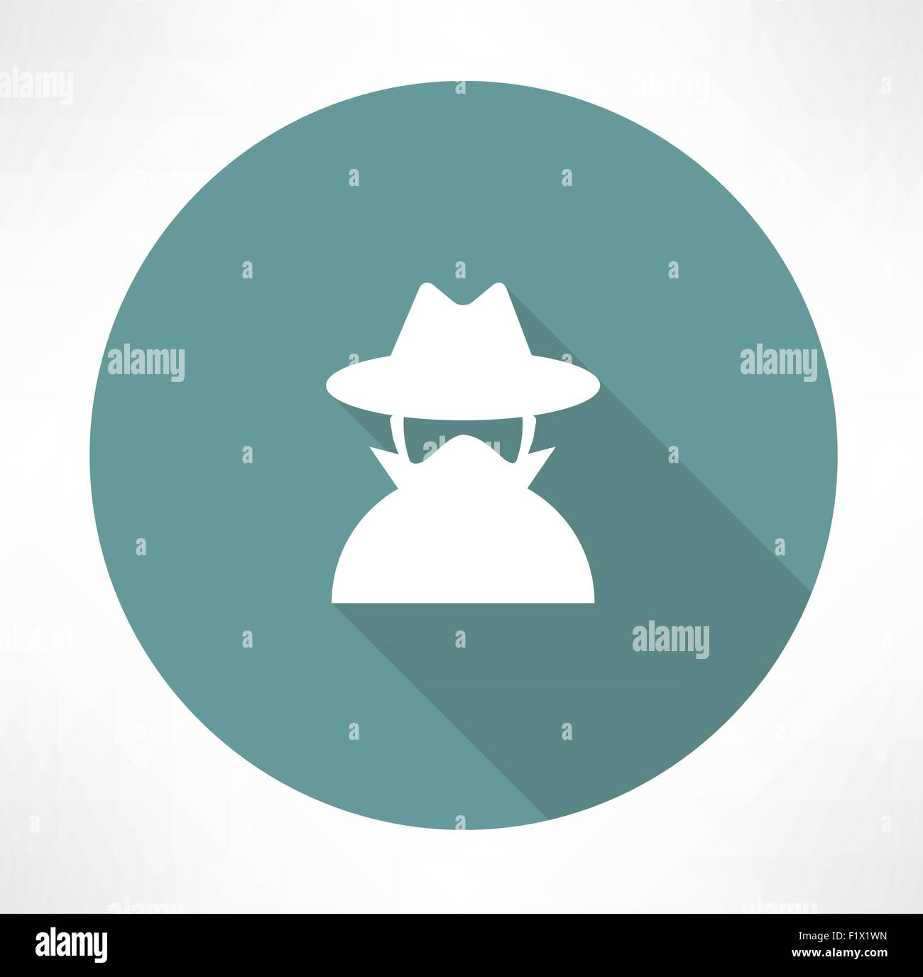 spy agent icon. Flat modern style vector illustration - Stock Vector