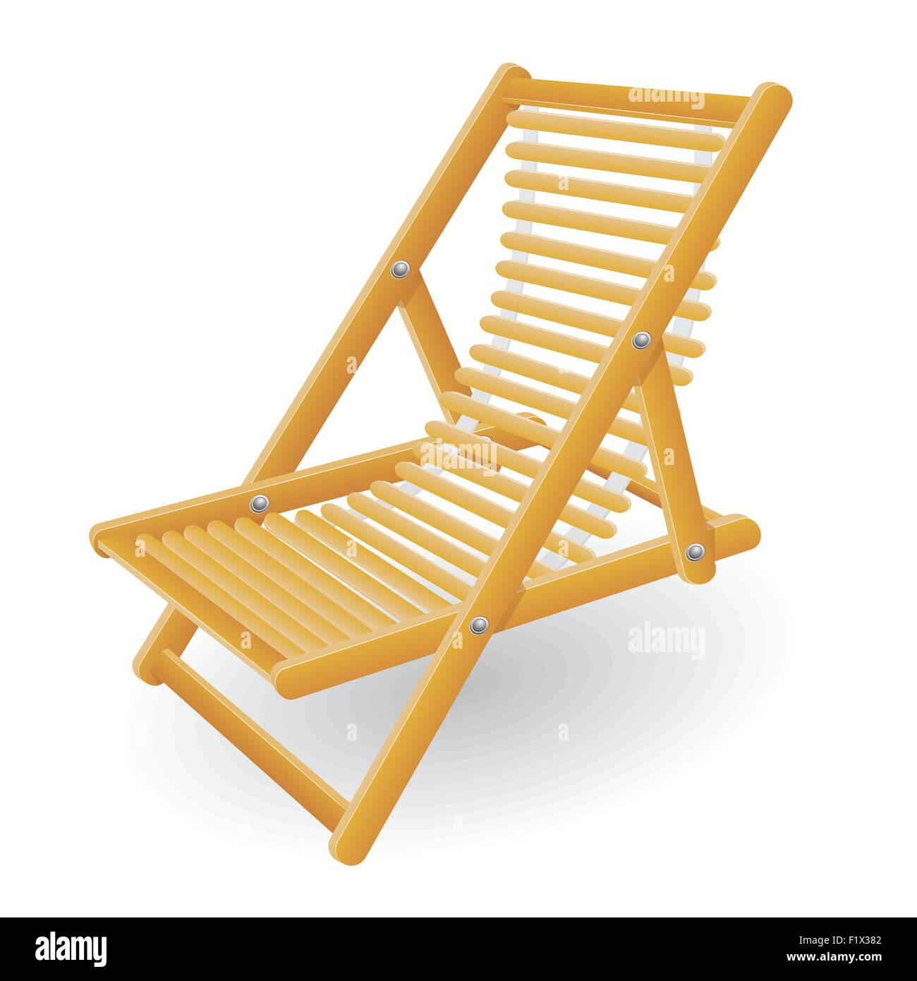 Beach Chair Vector Illustration Isolated On White Background