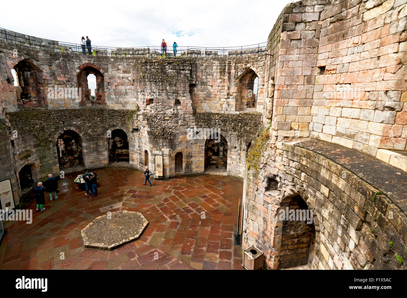 Inside Clifford S Tower York Castle City Of York Yorkshire Stock