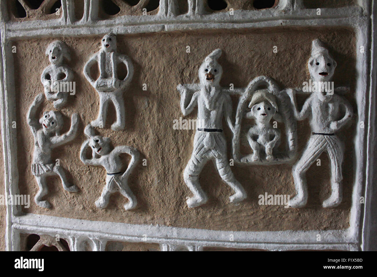 Gond Tribal art, Bhopal, Madhya Pradesh, India - Stock Image