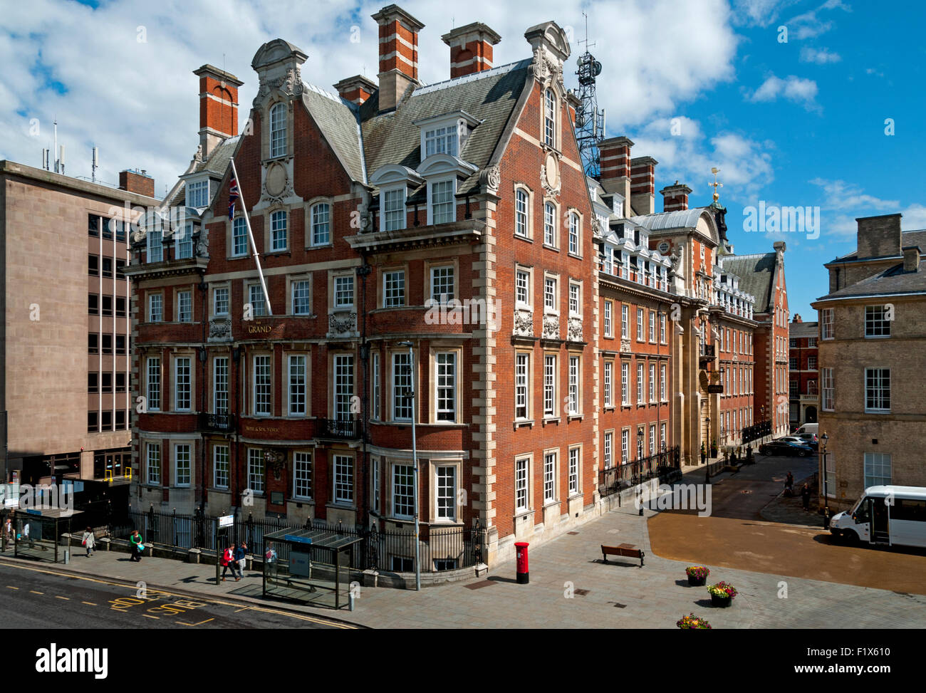 The Grand Hotel & Spa building, former HQ of the North Eastern Railway, Station Road, City of York, Yorkshire, - Stock Image