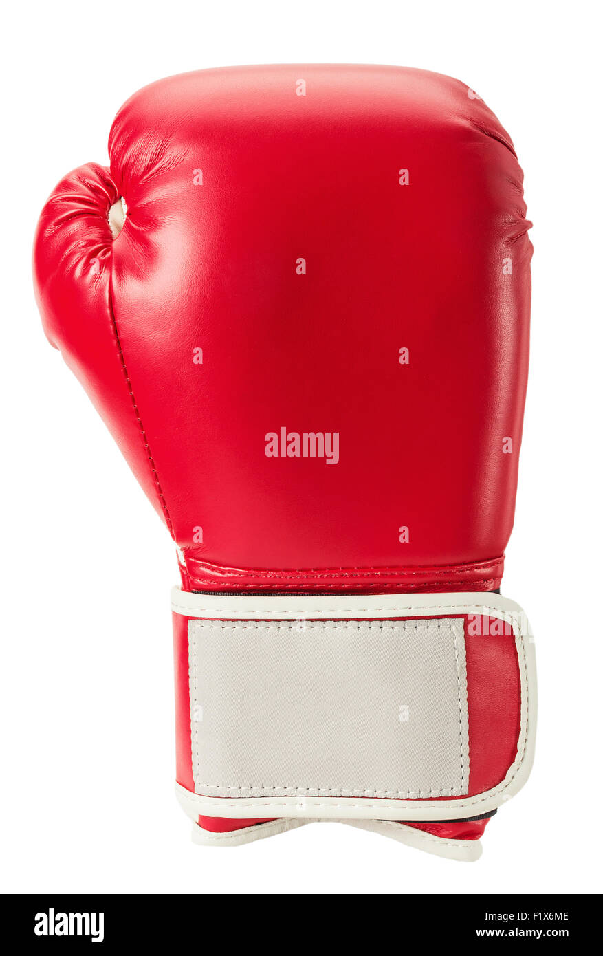 boxing glove isolated on the white background. - Stock Image