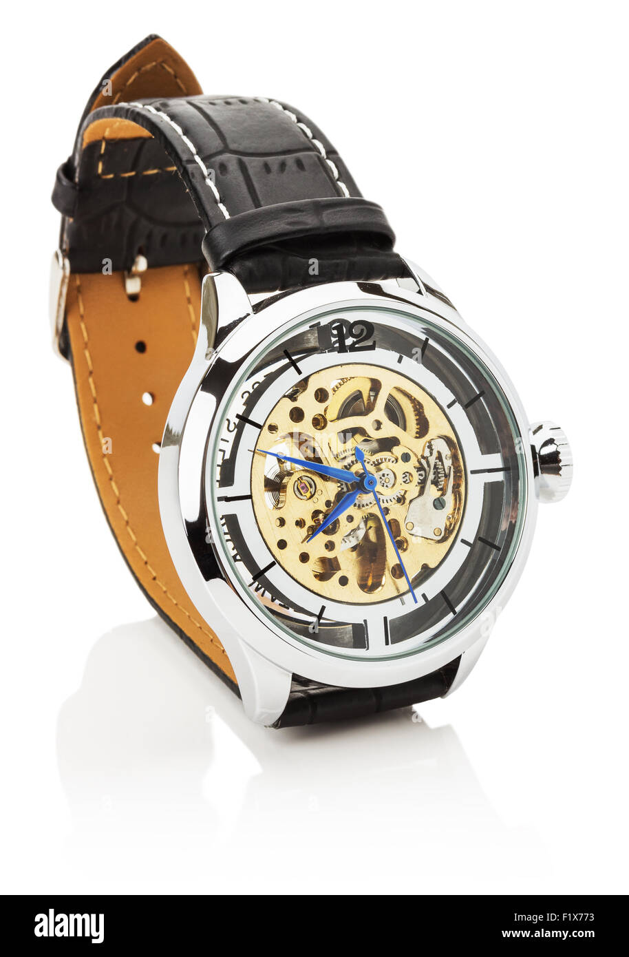 luxury watch isolated on the white background. - Stock Image