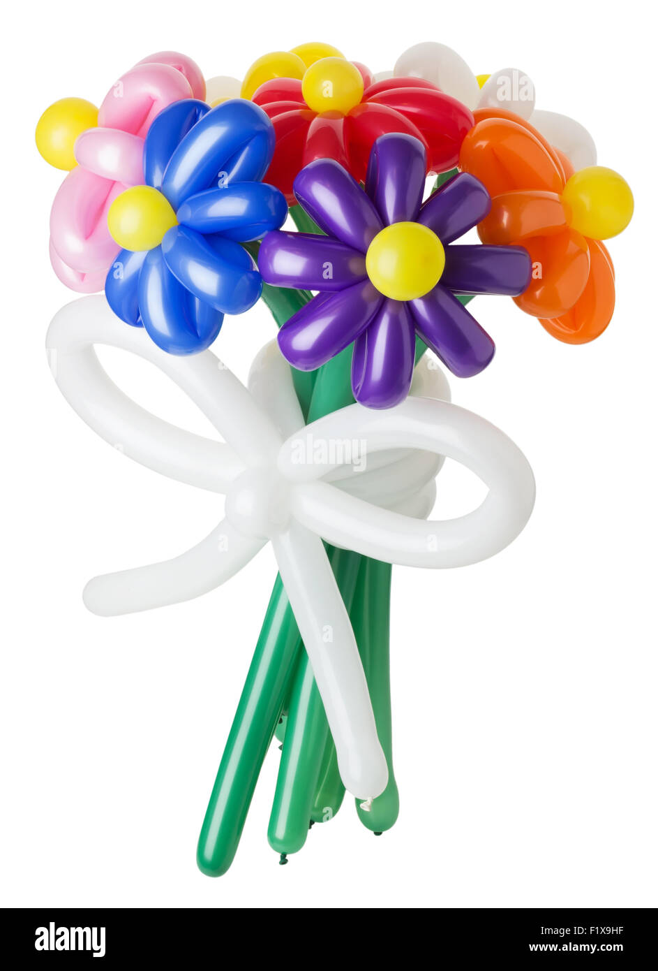 Balloon bouquet stock photos balloon bouquet stock images alamy bouquet with colorful balloon flowers on the white background stock image izmirmasajfo