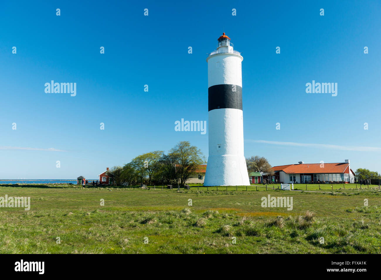 """The lighthouse """"Långe Jan"""" Stock Photo"""