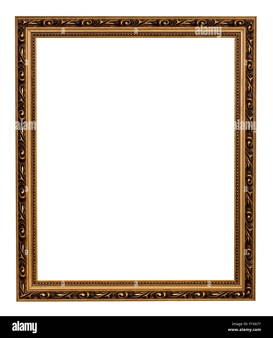 vintage frame isolated on the white background. - Stock Image
