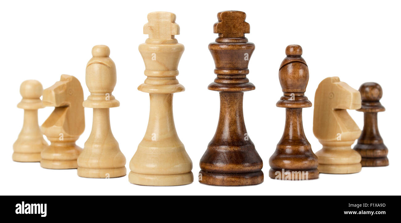 chess isolated on the white background. Stock Photo