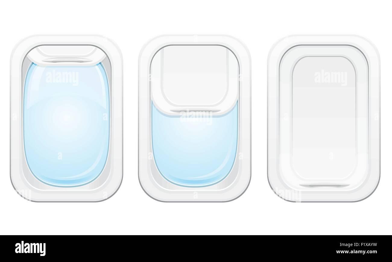 plane porthole vector illustration isolated on white background Stock Vector