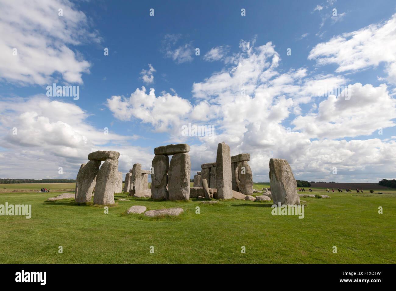 Stonehenge prehistoric neolithic monument and UNESCO World heritage Site, Wiltshire, England UK - Stock Image