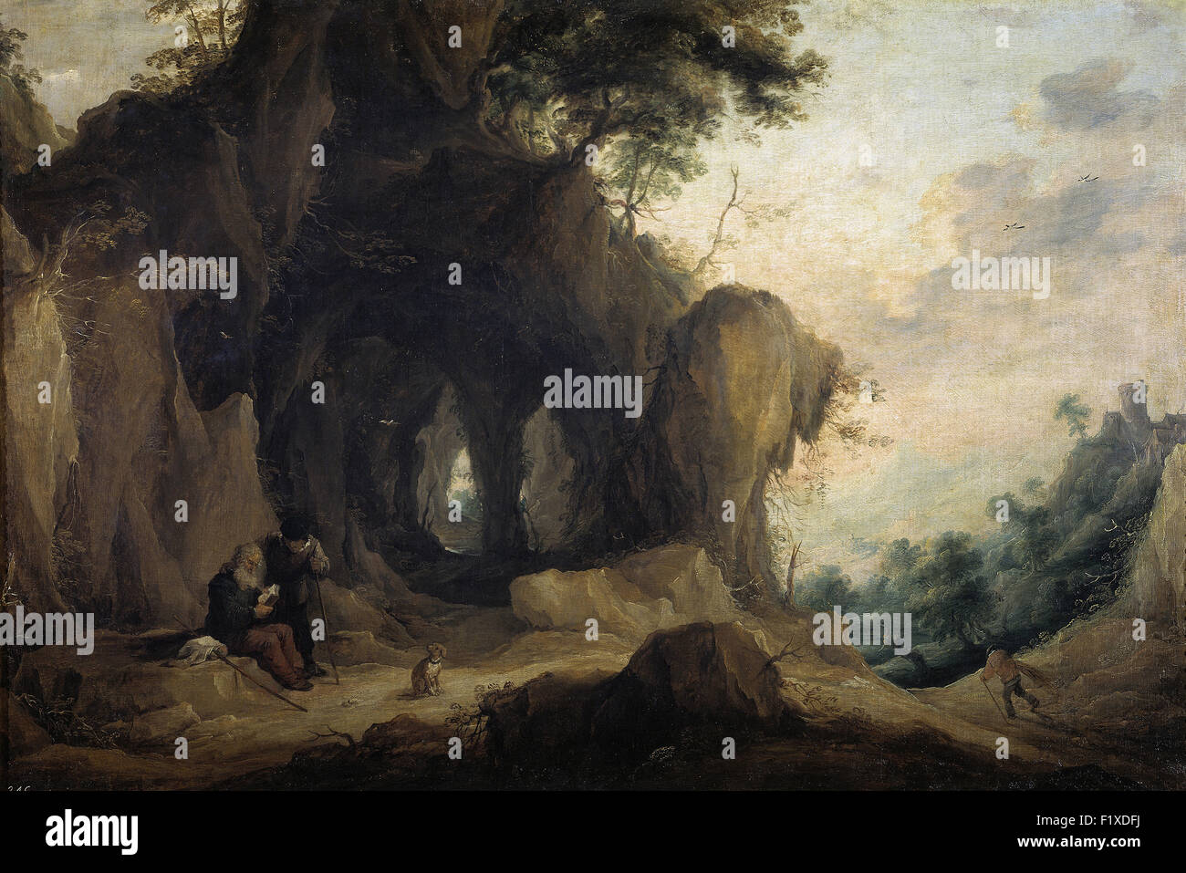 David Teniers the Younger - Landscape with a Hermit - Stock Image