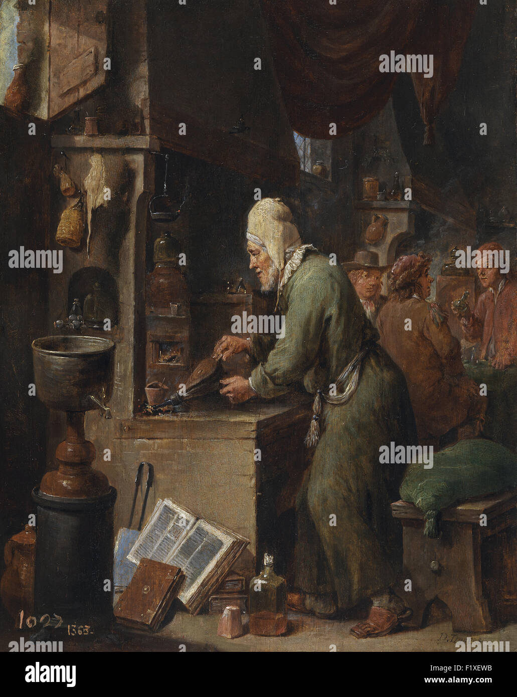 David Teniers the Younger - The Alchemist - Stock Image