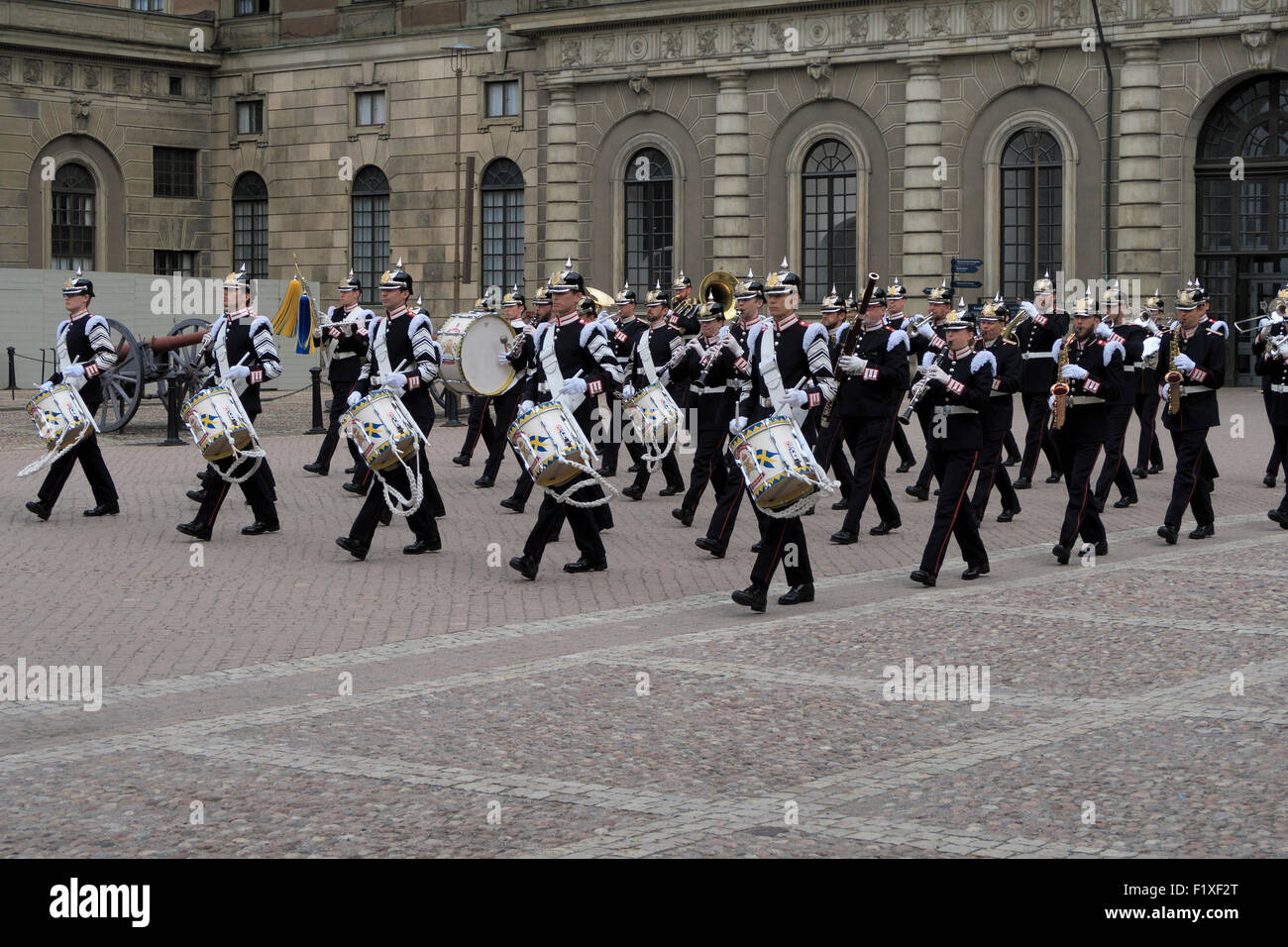 Military marching band during the changing of the guard