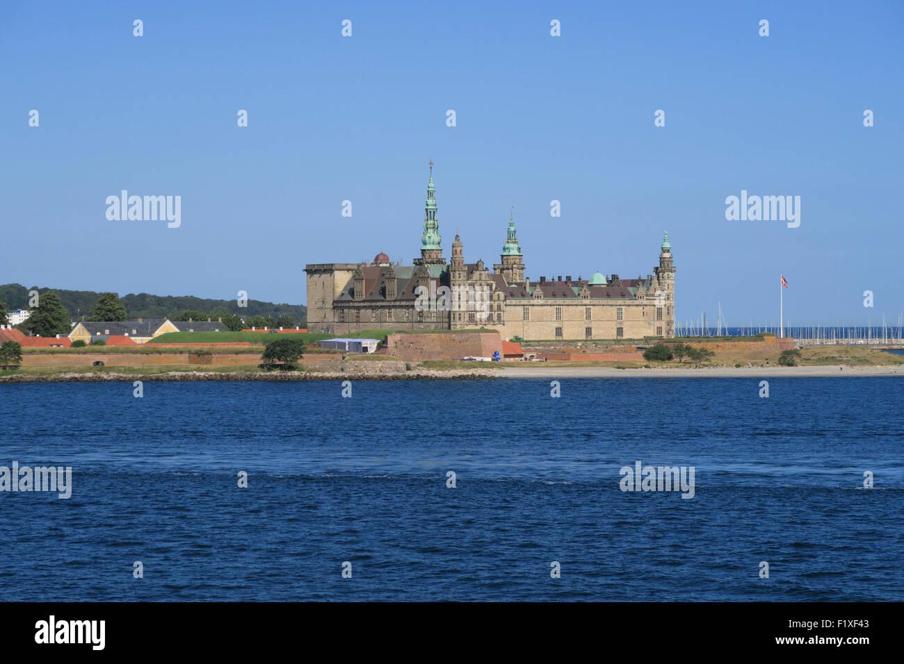 Kronborg castle in Helsingør, Denmark - Stock Image