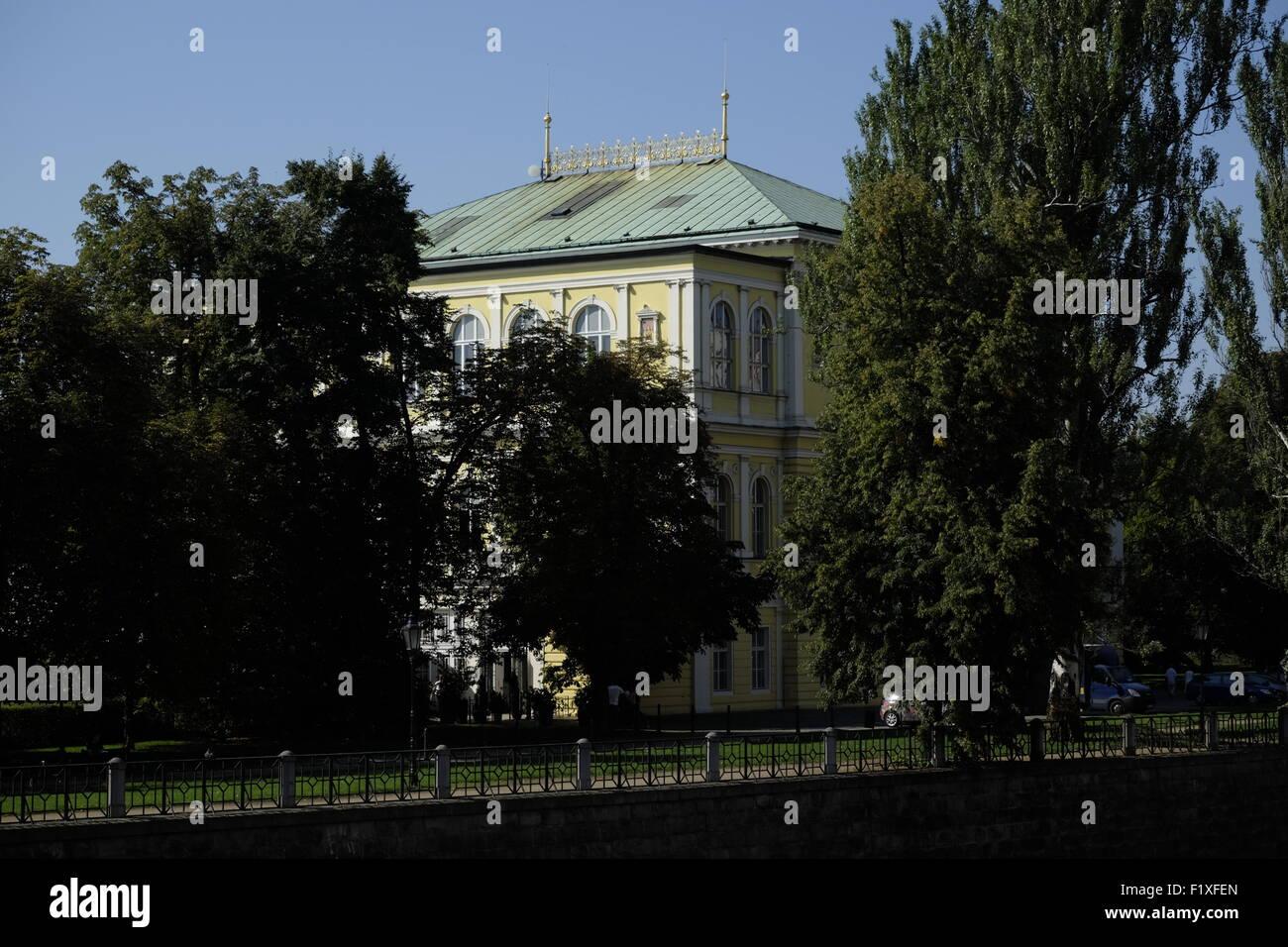 Žofín Palace on the Slavonic Island, Prague, Czech Republic, Europe - Stock Image