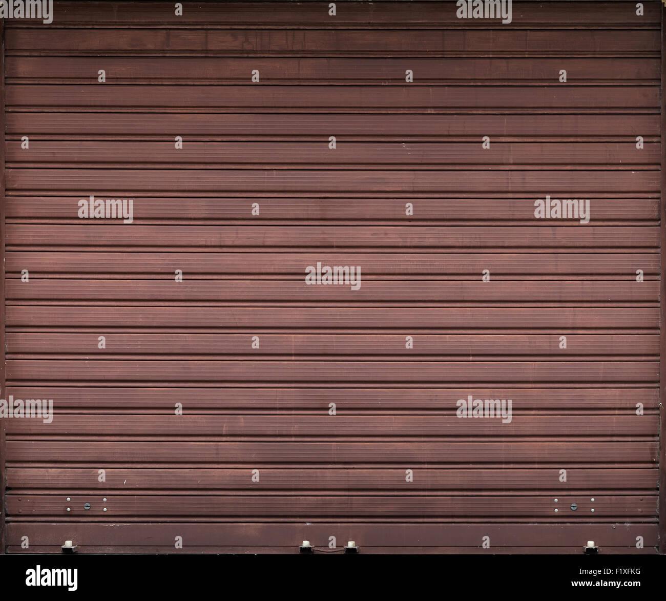 Exceptionnel Brown Metal Garage Door, Roller Shutter Background Texture   Stock Image