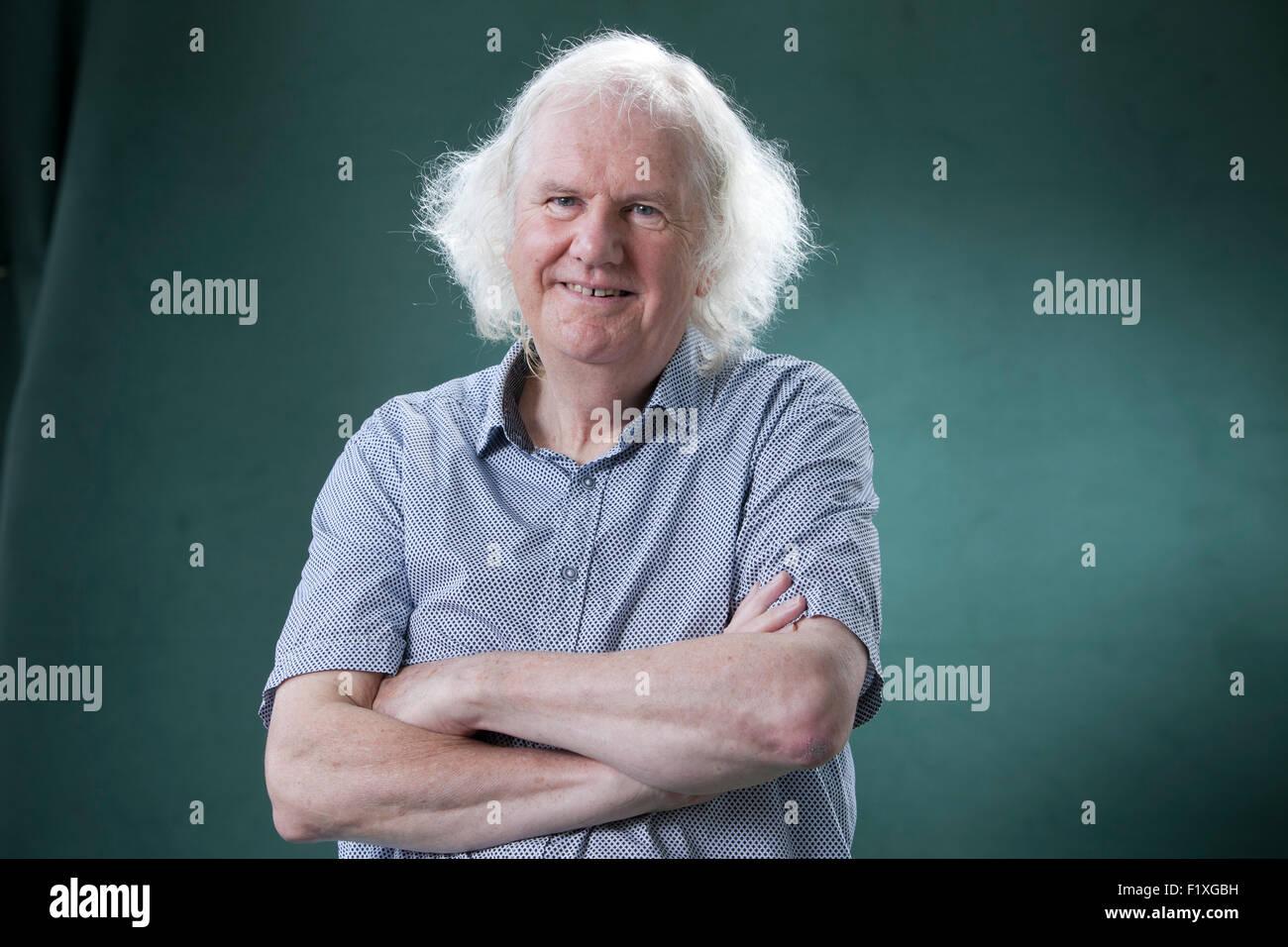 Ron Butlin, the Scottish poet and novelist, at the Edinburgh International Book Festival 2015. Edinburgh, Scotland. - Stock Image