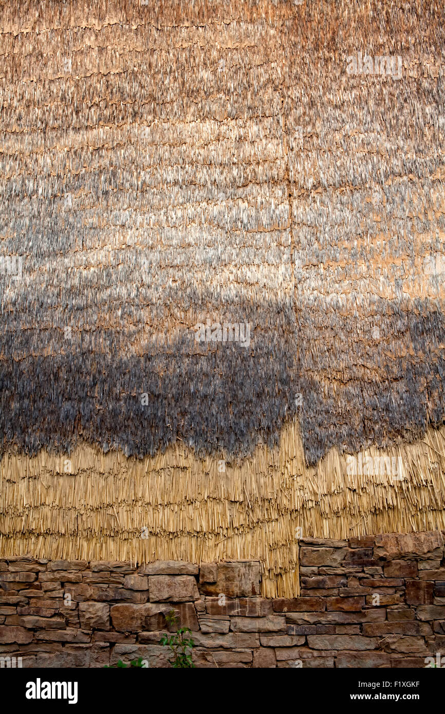 Insulation made of straw, 18th Century, Germany, Europe - Stock Image