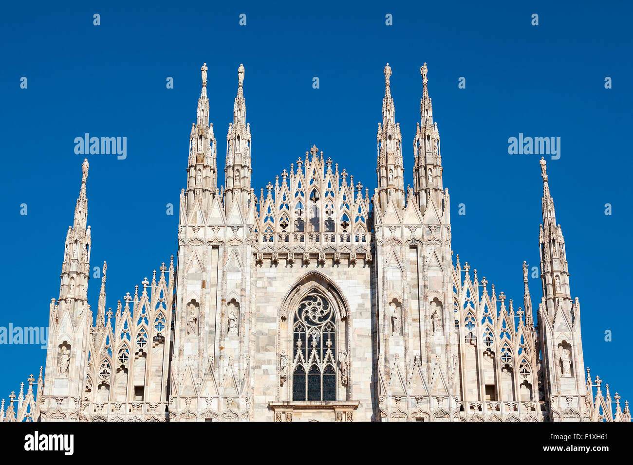 Milan Cathedral (Duomo di Milano) is the cathedral church of Milan, Italy. Dedicated to Santa Maria Nascente - Stock Image