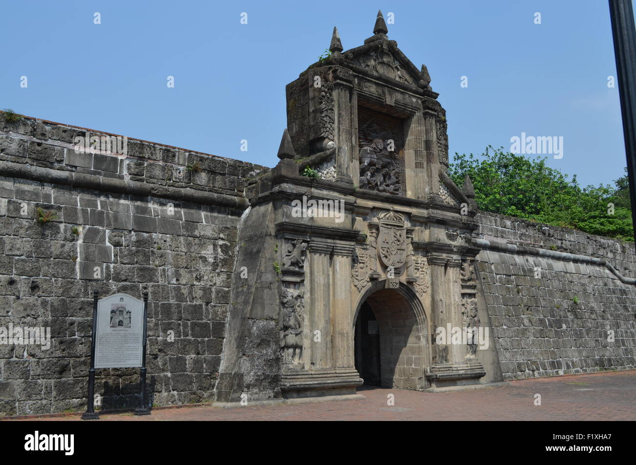 FortSantiagoManila.Oldest fortification once owned by the British (1762-1764).In1942 becameJapanese and hundreds - Stock Image