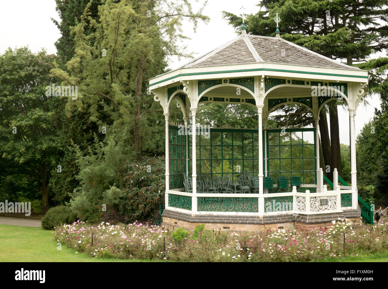 A bandstand in a British park - Stock Image