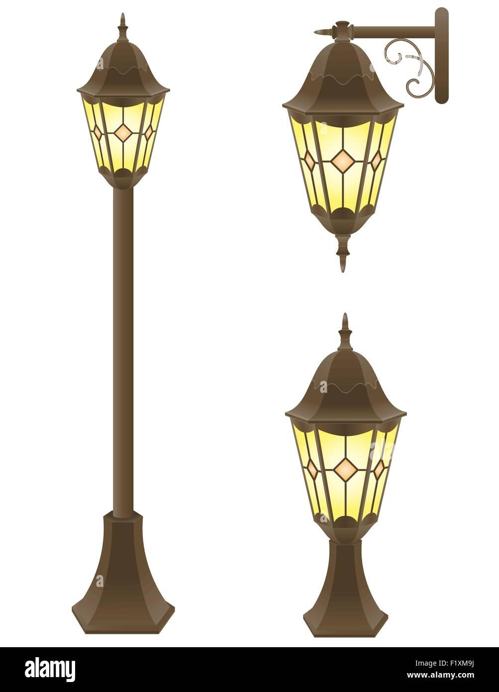 streetlight vector illustration isolated on white background Stock Vector