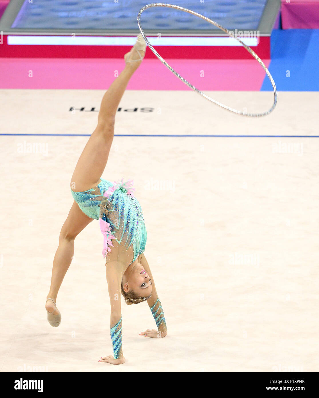 Stuttgart, Germany. 8th Sep, 2015. Nicol Ruprecht of Austria in action during the Gymnastics World Championships - Stock Image