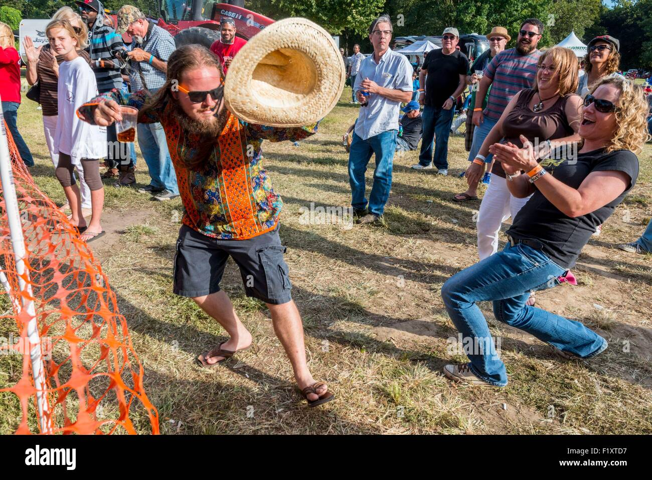 United States, Mississippi, Greenville, Mighty Mississippi Music festival Stock Photo