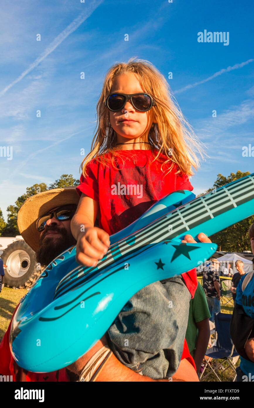 United States, Mississippi, Greenville, Mighty Mississippi Music festival - Stock Image