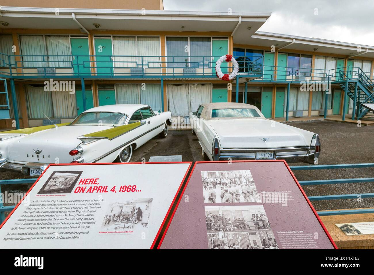 United States, Tennessee, Memphis, Lorraine Motel where Martin Luther King was murdered on 04 April 1968 - Stock Image