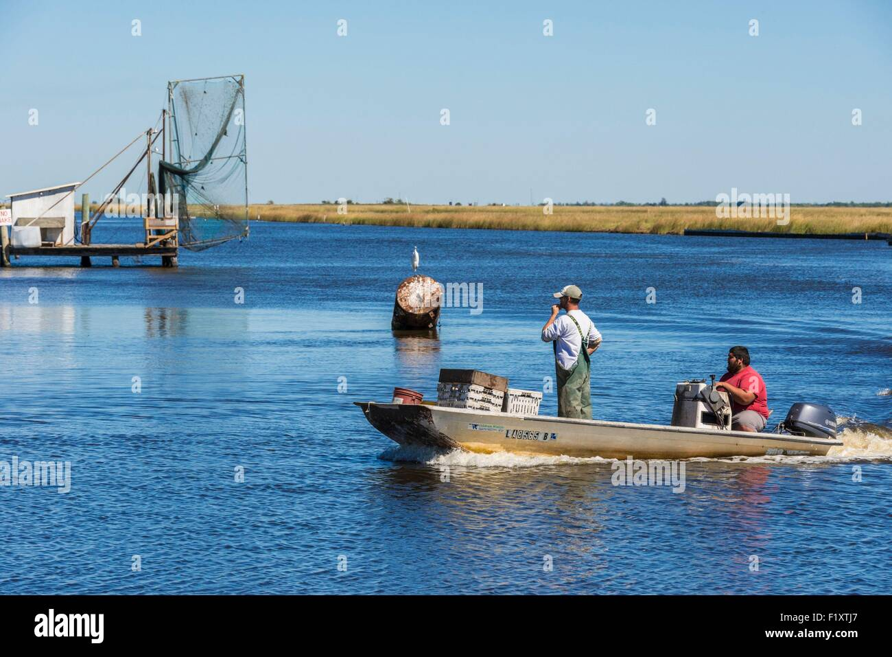 United States Louisiana Pointe Aux Chenes Crab Boats On
