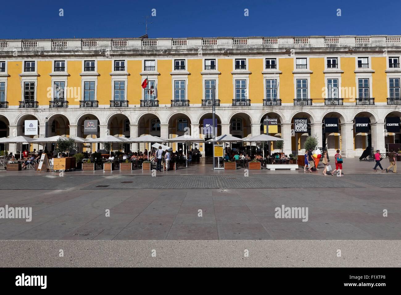Portugal, Lisbon, Baixa, Praτa do Comercio - Stock Image