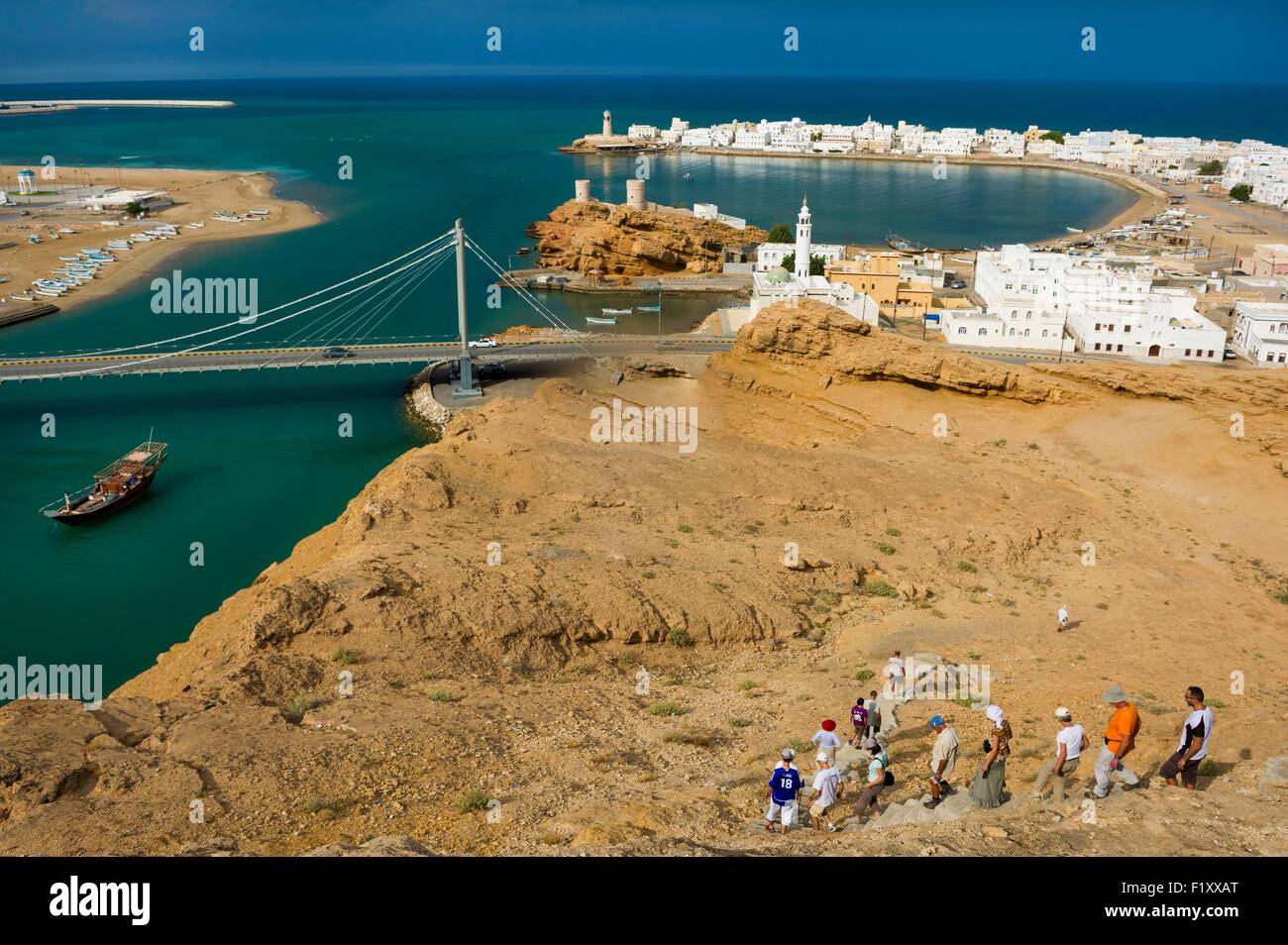 Oman, Sur, the historic city and the port - Stock Image