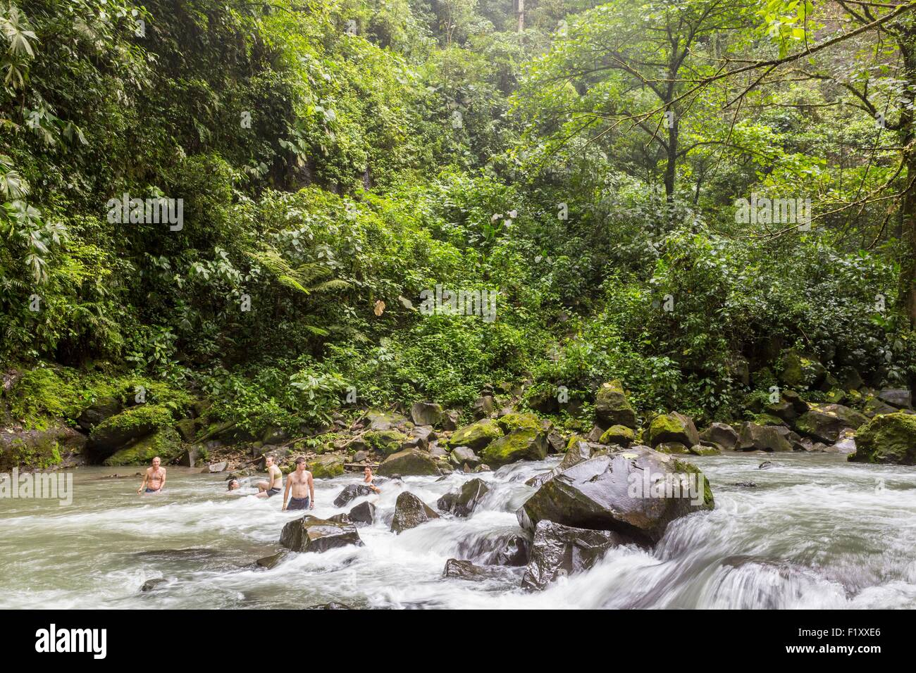 Costa Rica, Alajuela province, La Fortuna, the Catarata de la Fortuna - Stock Image