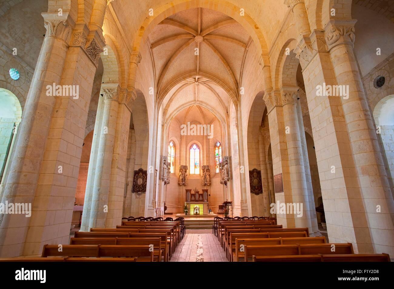 France, Charente Maritime, Saintes, Saint Eutrope basilica - Stock Image