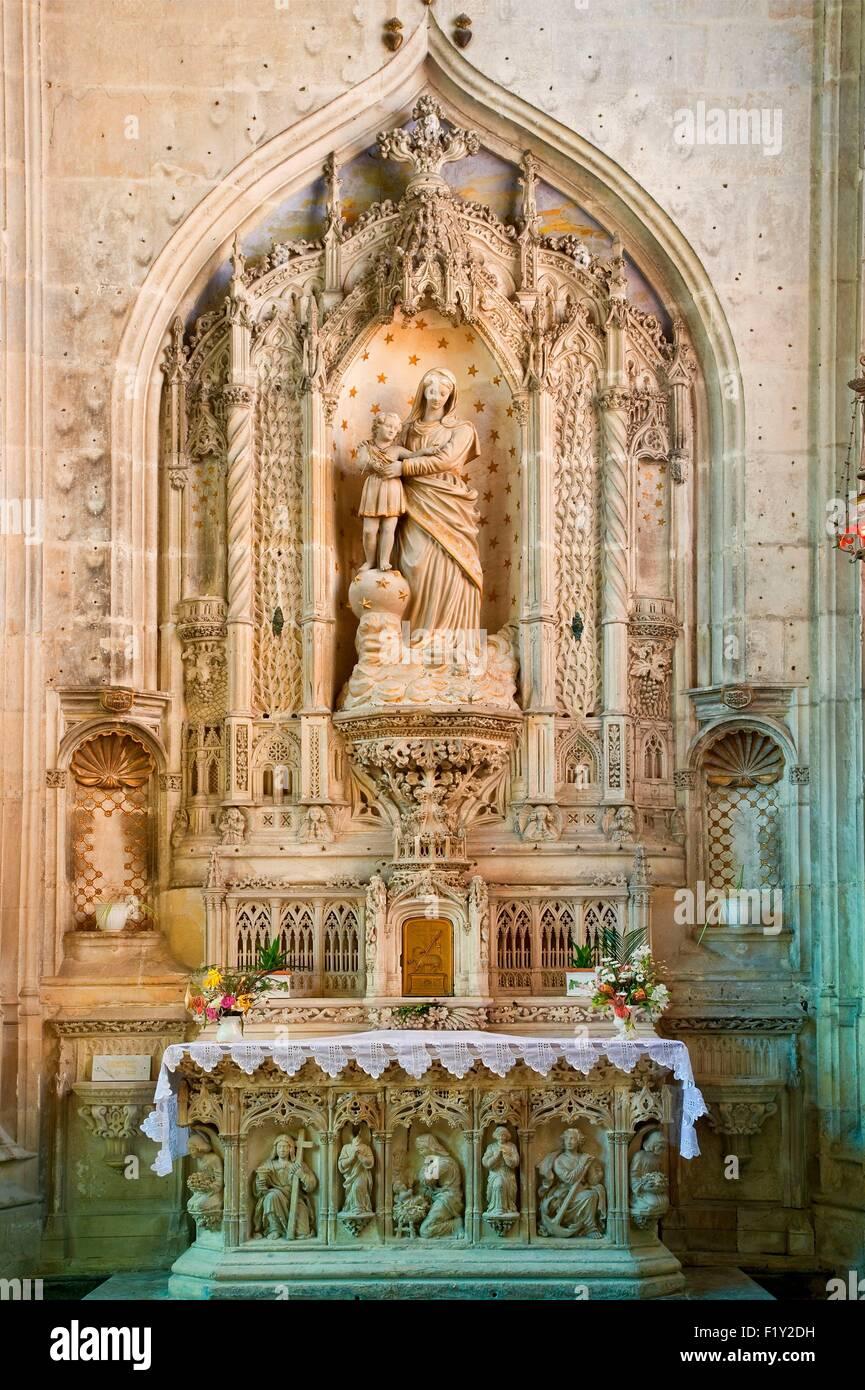 France, Charente Maritime, Saintonge region, Saintes, cathedral Saint Peter - Stock Image