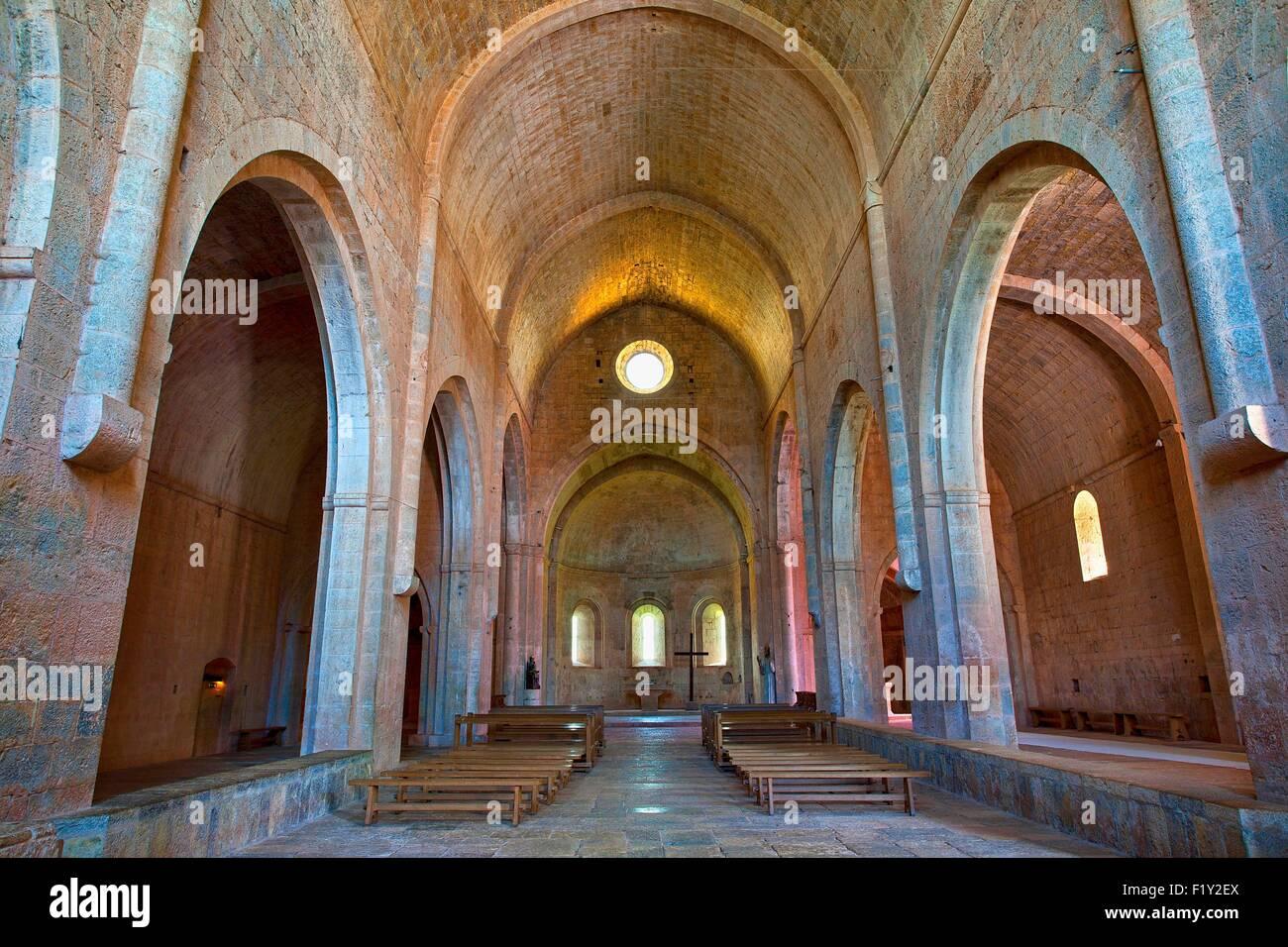France, Var, Cistercian Abbey of Thoronet Stock Photo