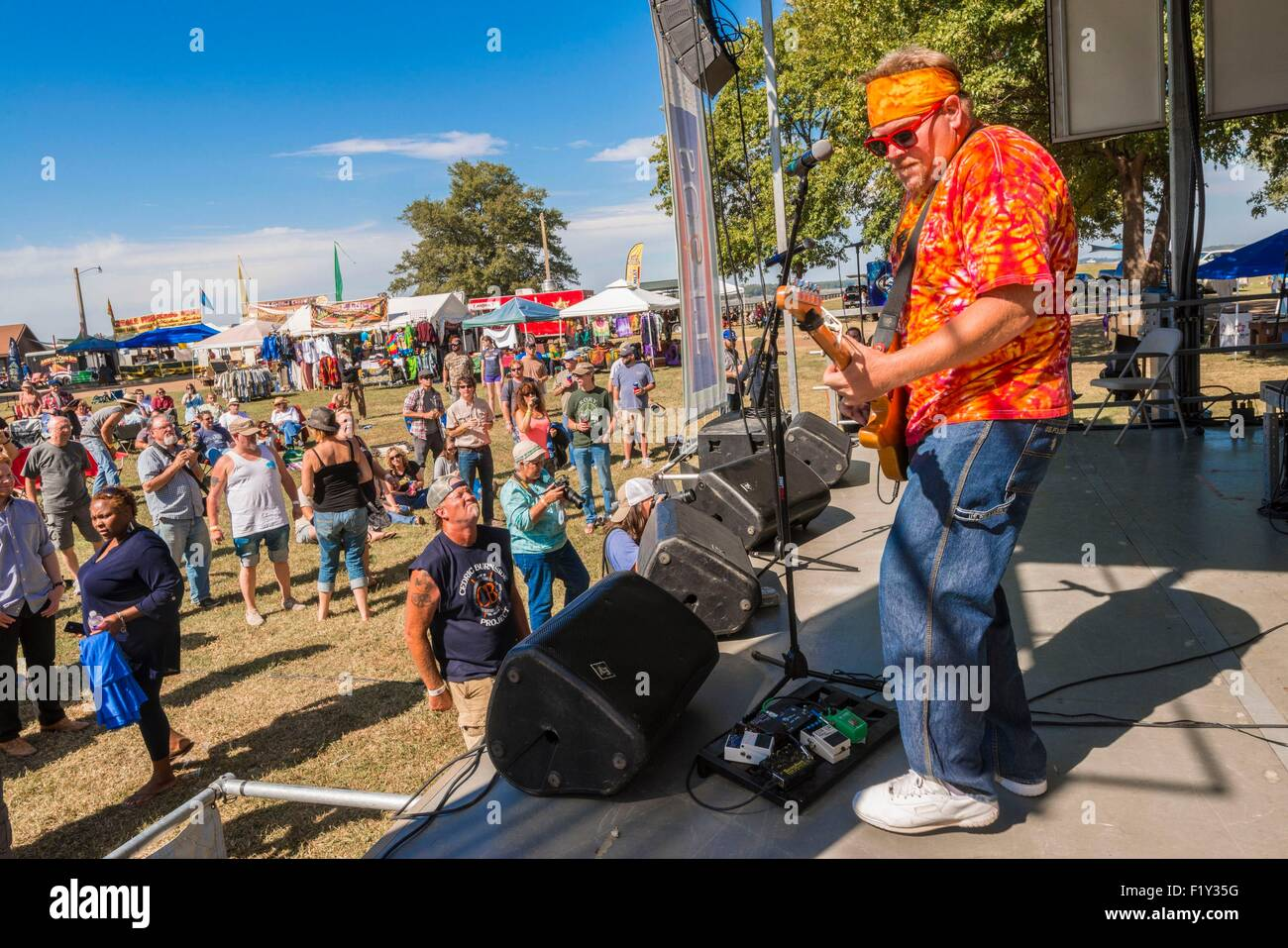 United States, Mississippi, Greenville, Mighty Mississippi Music festival, bluesman Libby Rae Watson - Stock Image